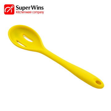 Kitchen Tools Silicone Slotted Serving Spoon
