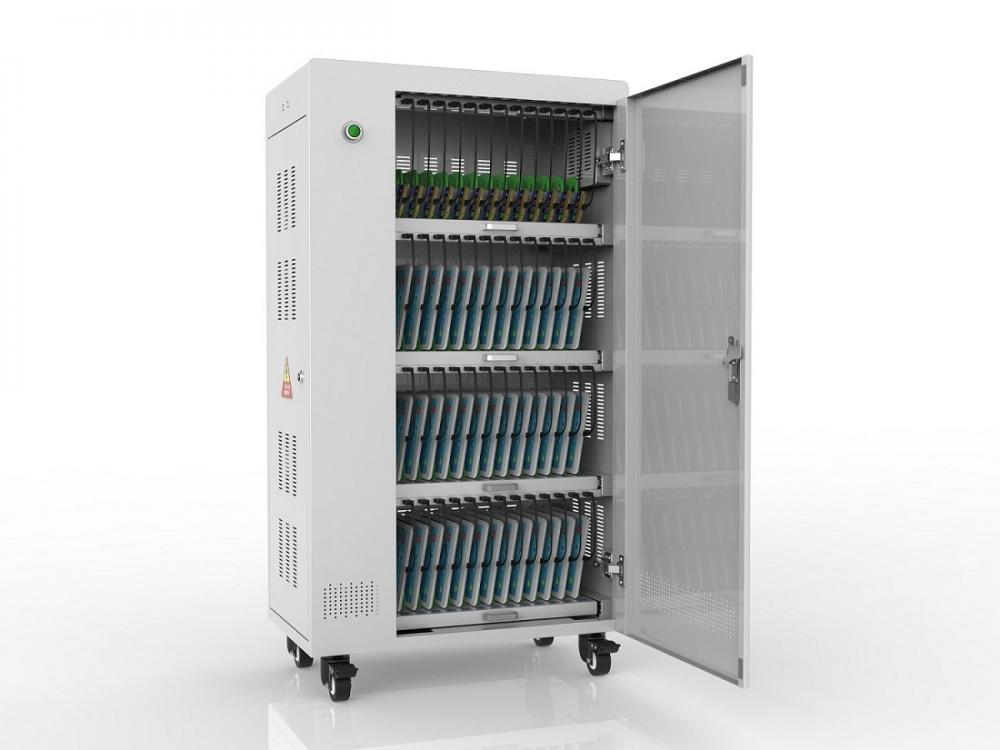 Laptop Storage and Charging Cart for 40 Laptops