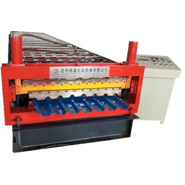 Double layer trapezoidal metal sheet roll forming machine