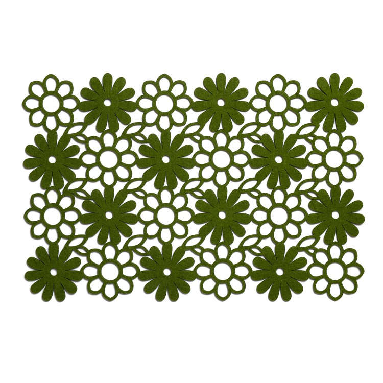 Green Daisy Felt Table Placemat