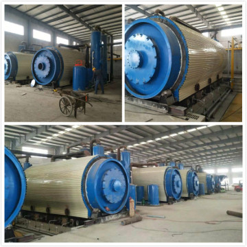 non-pollution waste tires pyrolysis plant
