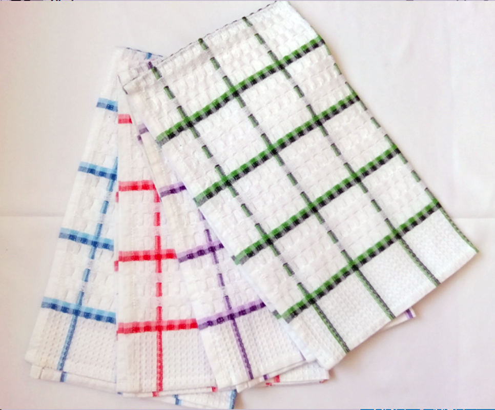 Cotton Waffle Check Tea Towels