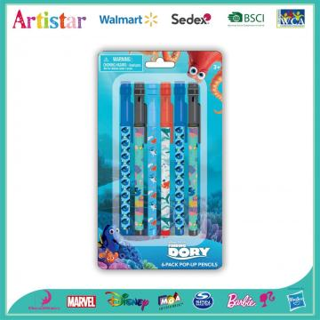 Dory 6-pack pop-up pencils