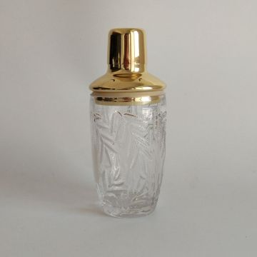 Metal lid food safe glass cocktail shaker on sale