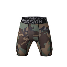 Mens compression printed custom camo boxer shorts