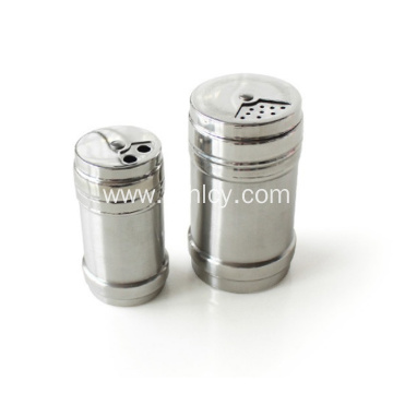 Stainless Steel Seasoning Jar With Top Rotatable Shaker