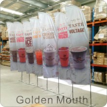 China for Feather Banners Double Sided Feather Flags with Cross Base export to Netherlands Manufacturers