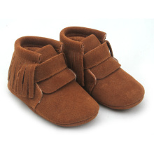 China New Product for Winter Baby Boots Brown Genuine Leather Shoes Baby Oxford Boots export to South Korea Factory