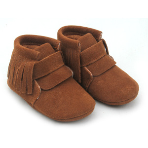 Special for Baby Boots Shoes Brown Genuine Leather Shoes Baby Oxford Boots export to Italy Manufacturers