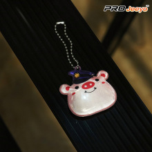 Reflective Safety Pig Shape Pendant Kids Keychain