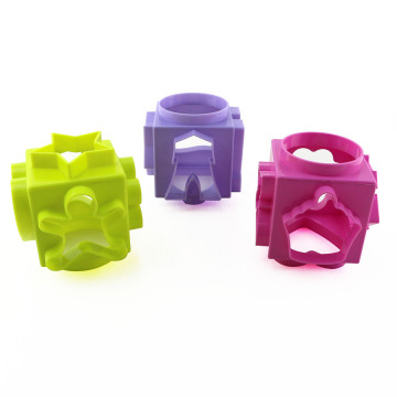 Kitchen Baking 6 Sides Design Cookie Cutter Cube