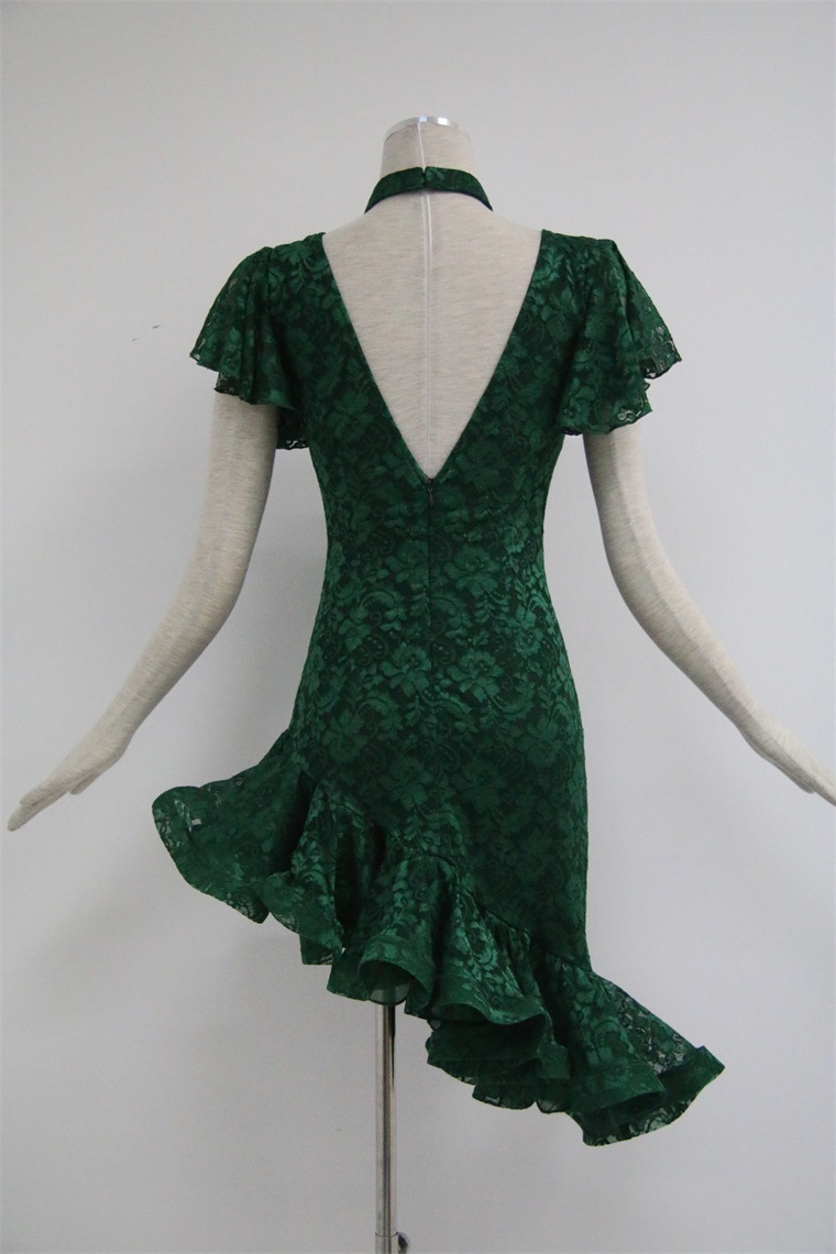 Green Latin Dress