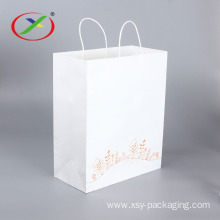 Luxury Gift Craft Shopping White Kraft Paper Bag