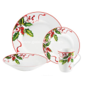 Christmas Mistletoe Porcelain Dinnerware