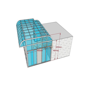 Factory directly sale for Sunroom Glass House Sunroom Glass House Kit Protection Sheet Sun Room export to French Polynesia Manufacturers