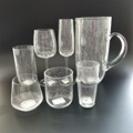 Clear bubble inside drinking glass set with factory price