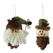 Christmas 3D santa and snowman shape pendant