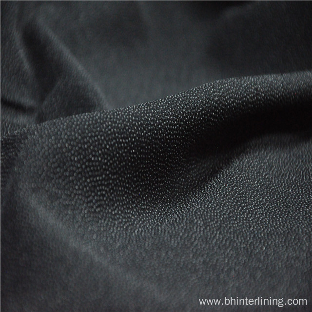 Elastic PA double dots coating woven lining fabric