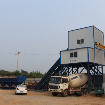 Stationary type 60m3 ready mixed concrete batching plant