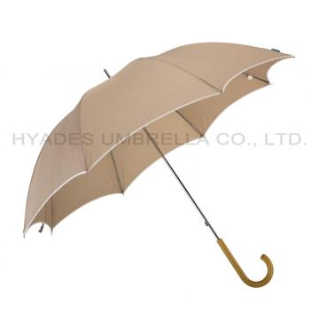Ladies Plain Color Manual Open Straight Umbrella