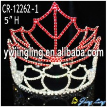 China for Christmas Party Hats Fashion Holiday Pageant Crowns Maple Leaf export to Angola Factory