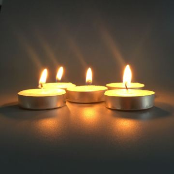 Bulk Round Shaped Unscented Tealight Candle