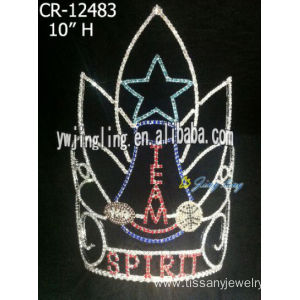 Hot Rhinestone Shine Star Patriotic Crown For Pageant