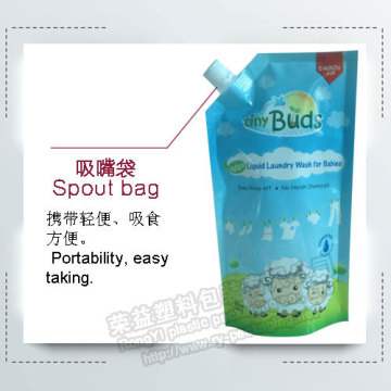 Laundry Detergent Stand up Spout Pouch for Liquid