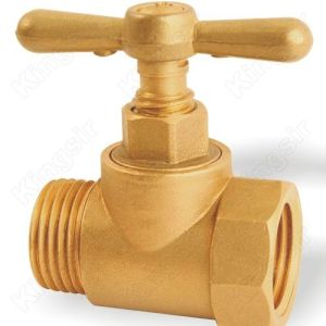 Factory making for Brass Stop Valve Brass Stop Valve with Threaded Connection supply to Nigeria Exporter