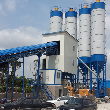 Portable bucket type small 120m3/h concrete batching plant