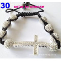 Cross Charm Bracelets For Women White Shamballa Bracelet