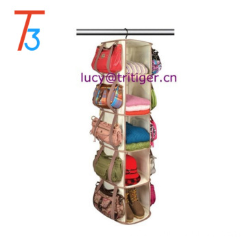 5 Tier 30 pockets 360 Degree Spinning Hanging Smart Carousel Shoe Organizer