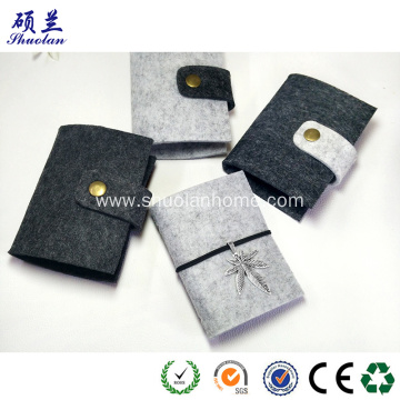 Medium quality felt bank card holder