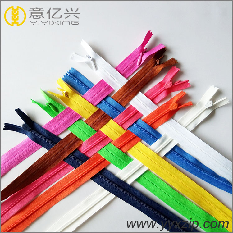 Custom Beautiful Nylon Invisible zipper