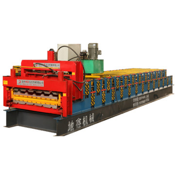 New type double sheets glazed trapezoidal forming machine