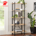 3 Tiers Bookshelves With Metal Frame Modern