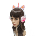 LX-UR107 Stereo Headsets Deluxe Unicorn Headphones Factory