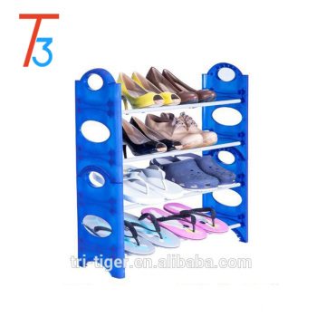 4 Tier 20 Pair Jordan Plastic Pull out shoe rack