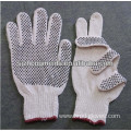 cotton gloves knitted string pvc dotted