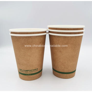 Highest Quality PLA Compostable Disposable Paper Cup 16oz