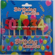 China Gold Supplier for Birthday Use Number Candle Colorful Birthday Cake Number Candle export to Angola Suppliers