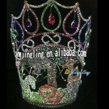 Animal crown rhinestone full round pageant crowns