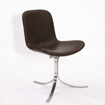 Renewable Design for Leather Dining Chair Poul Kjaerholm PK9 chair replica export to Spain Factory