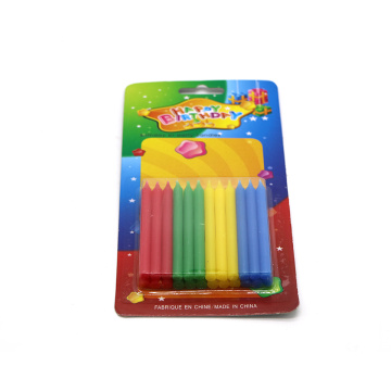 Vela de superficie lisa combinada de 4 colores 24PCS