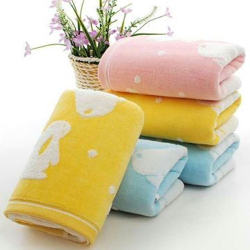 100% Cotton Cut Pile Face Towel Hand Towel