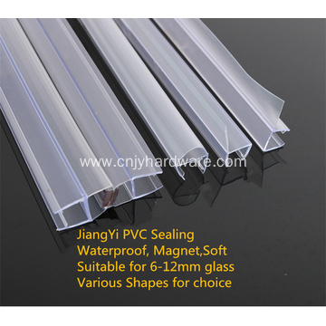 Waterproof PVC shower door bottom seal