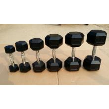 Rubber Coated Cast Iron Dumbbell