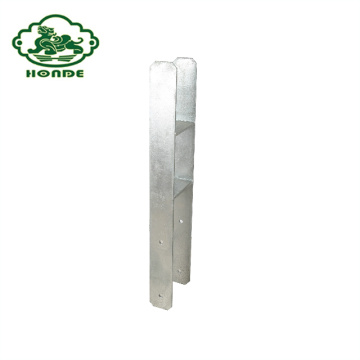 Galvanized Post Anchor In H-Form