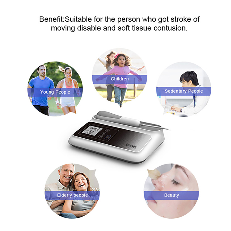 2019 Large LCD pain relief shockwave ultrasonic device