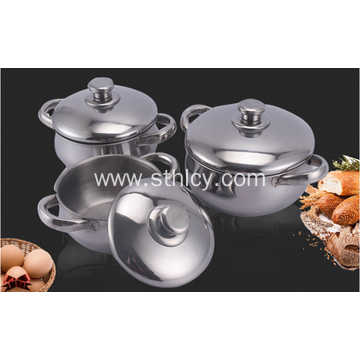 Cookware Set With Stainless Steel Lid African Pot